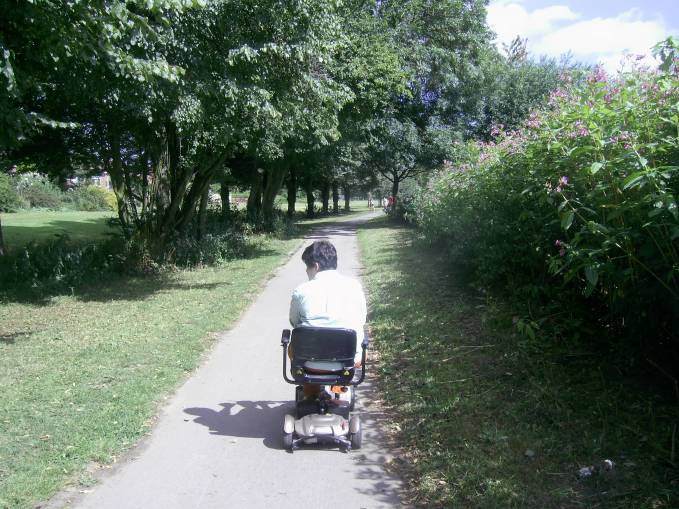 Cycle path by the river in York