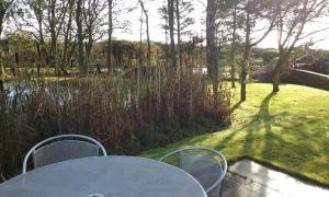 The dew pond, High Barn cottages