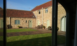 The courtyard at High Barn cottages