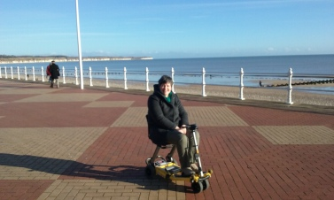 On the prom at Bridlington