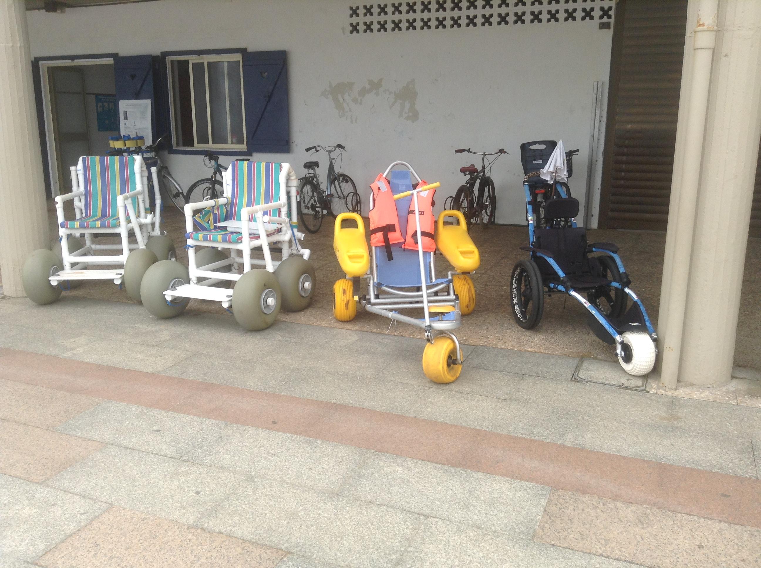 Beach wheelchairs, Zarautz