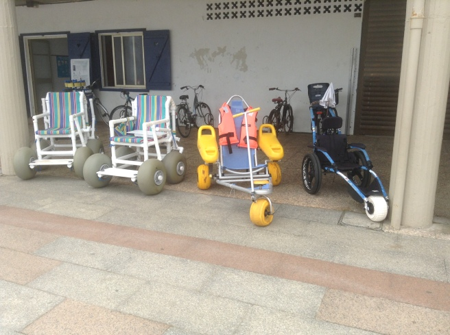 Beach wheelchairs, Zarautz