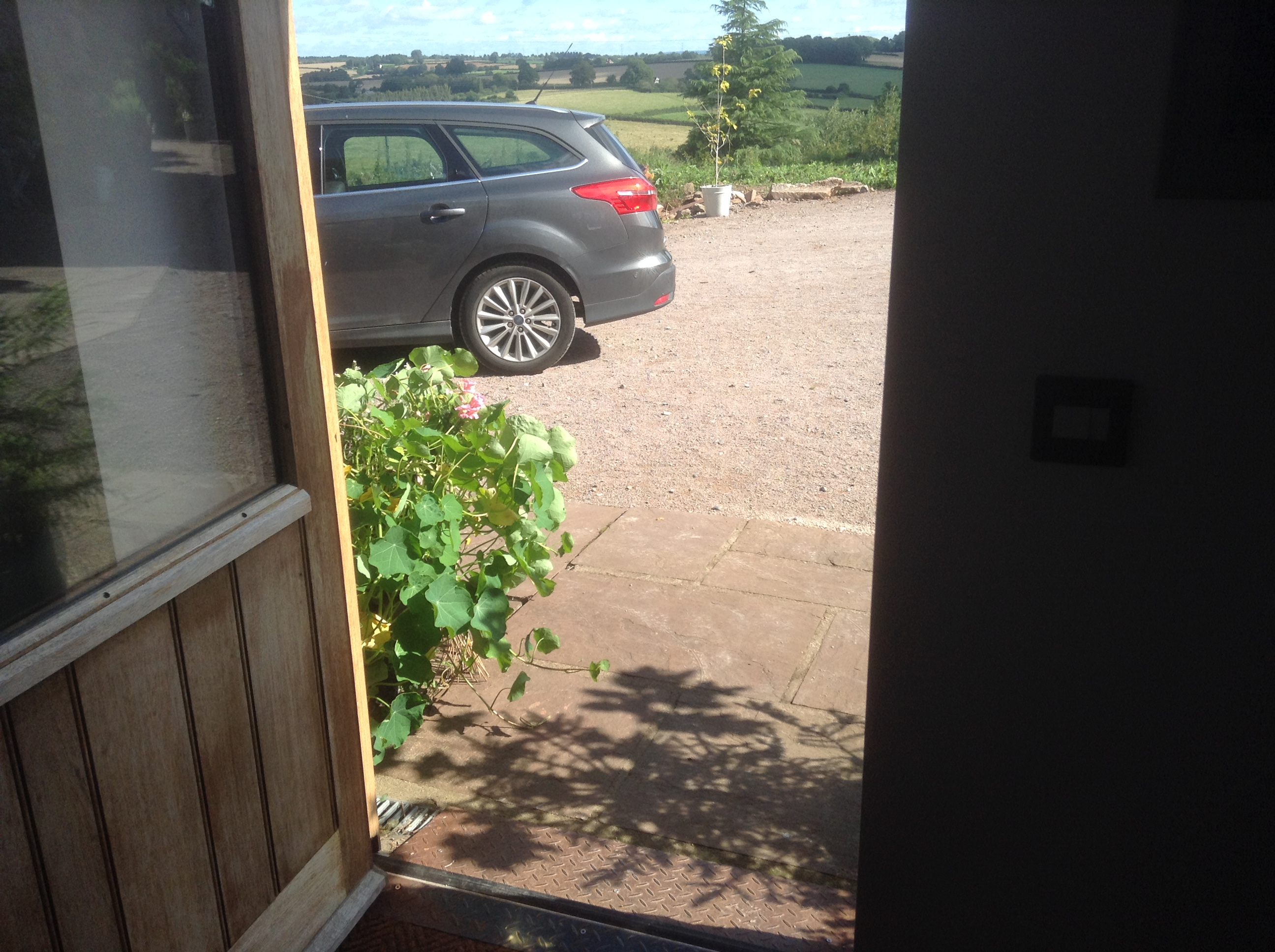 Easy access at Valley View cottage, Llangrove, Herefordhsire