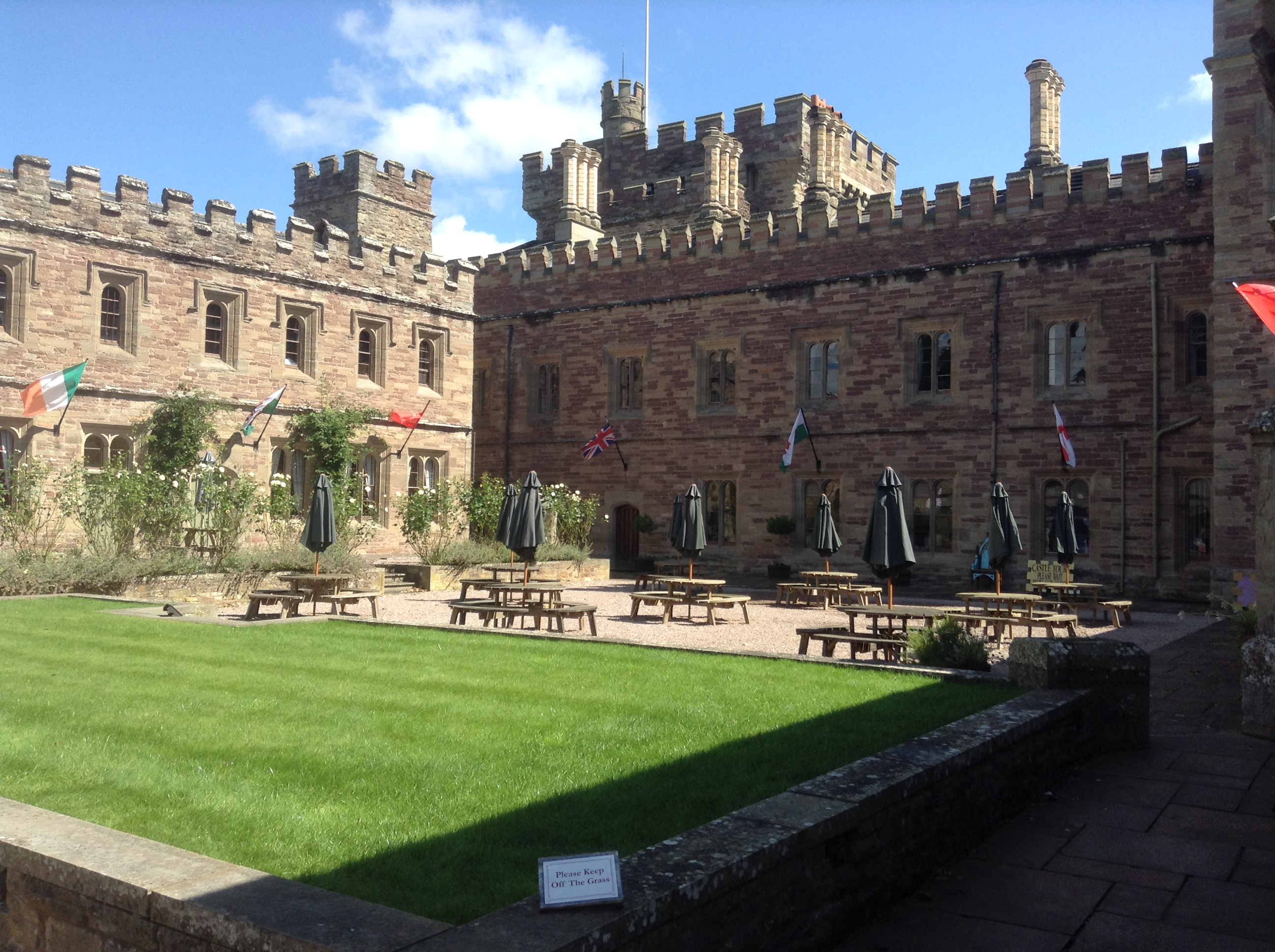 The courtyard, Hampton Court Castle, Herefordshire
