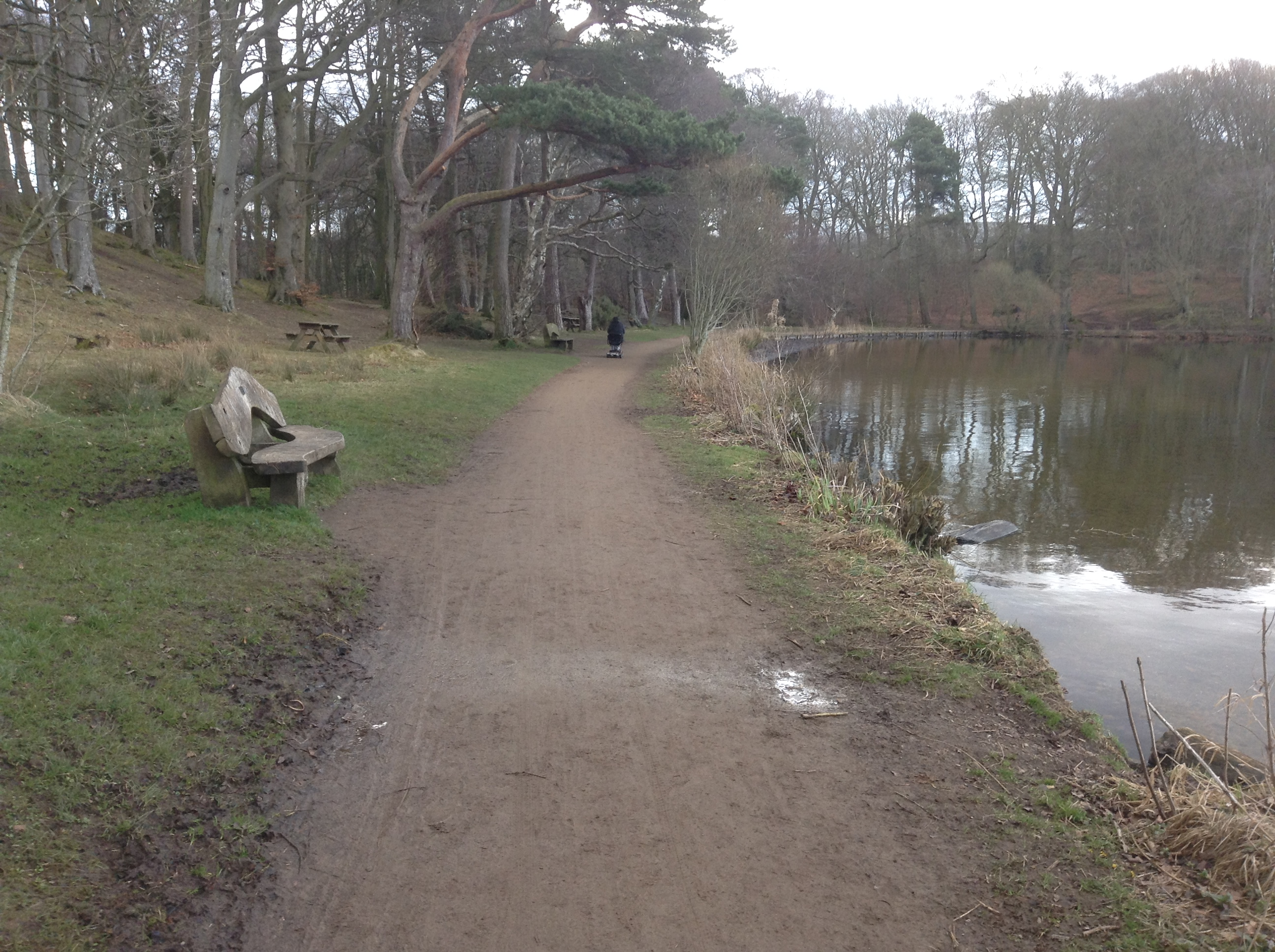 The path at Talkin Tarn