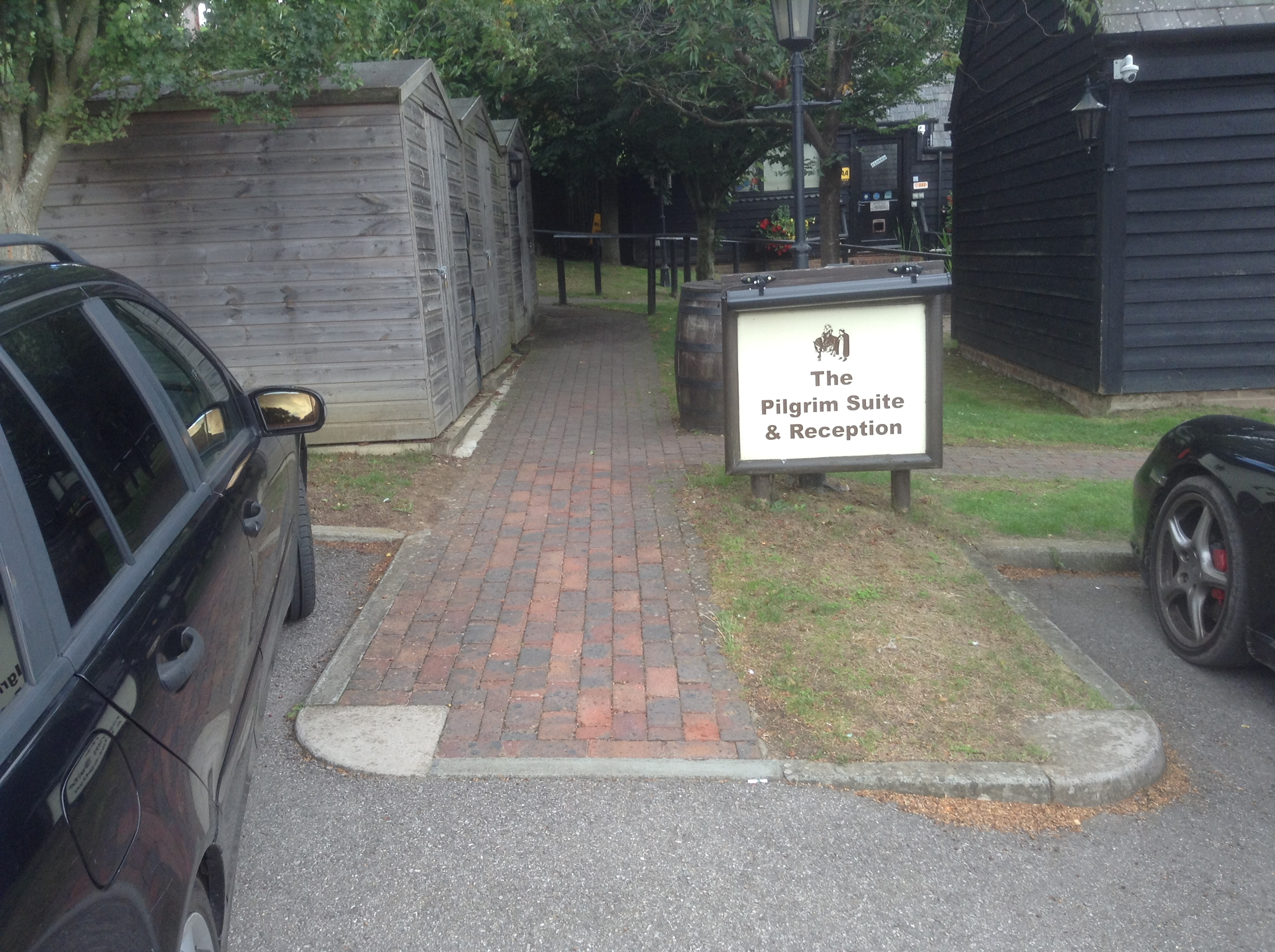 Accessible pathway at The Black Horse, Thurnham, Kent