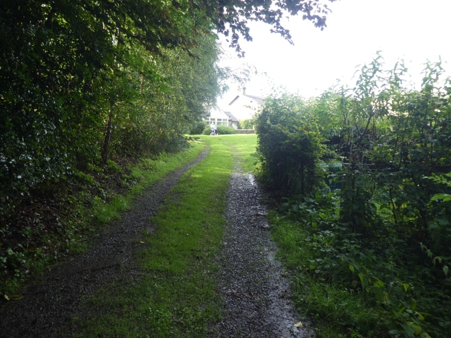 The path to the lake, Doxford Cottages