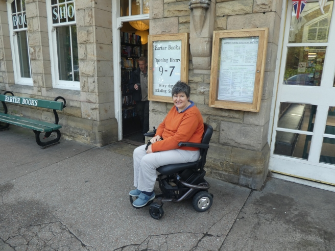Accessible and entrance to Barter Books, Alnwick