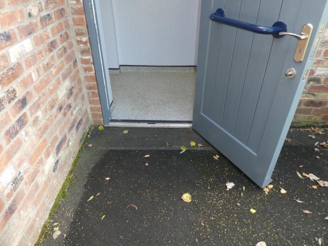 Rather narrow loo doorway!