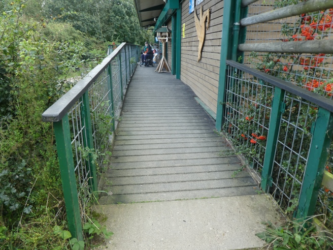 Entrance to visitor centre, Fairburn Ings