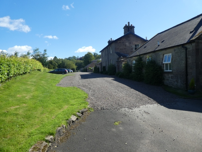 Parking area, Doxford Cottages