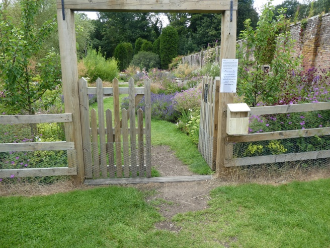 Rather tricky entrance to the Sensory Garden, Howick Hall